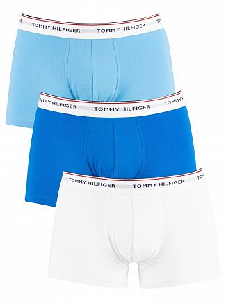 Tommy Hilfiger Ethereal Blue/Directoire Blue/White 3 Pack Premium Essentials Trunks