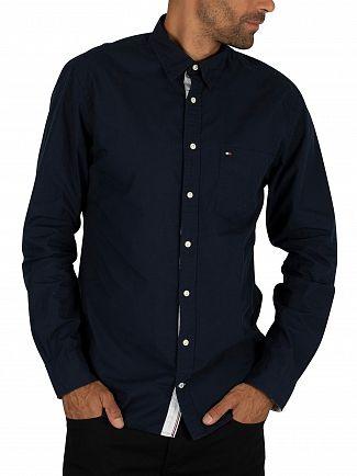 Tommy Hilfiger Navy Blazer Essential Poplin Shirt