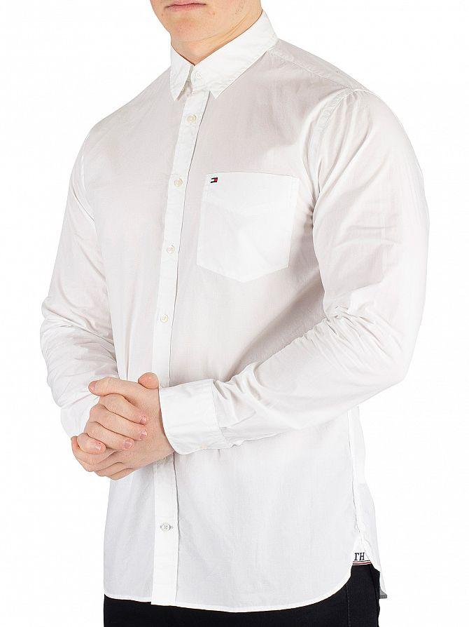 Tommy Hilfiger Bright White Essential Poplin Shirt