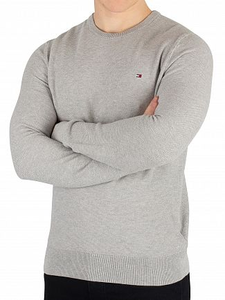 Tommy Hilfiger Cloud Heather Fine Structured Knit