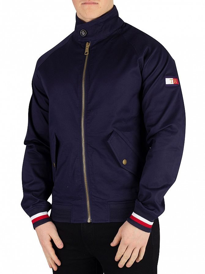 Tommy Hilfiger Maritime Blue Icon Cotton Harrington Jacket