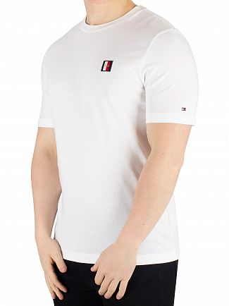 Tommy Hilfiger Bright White Icon Woven Label Relax Fit T-Shirt
