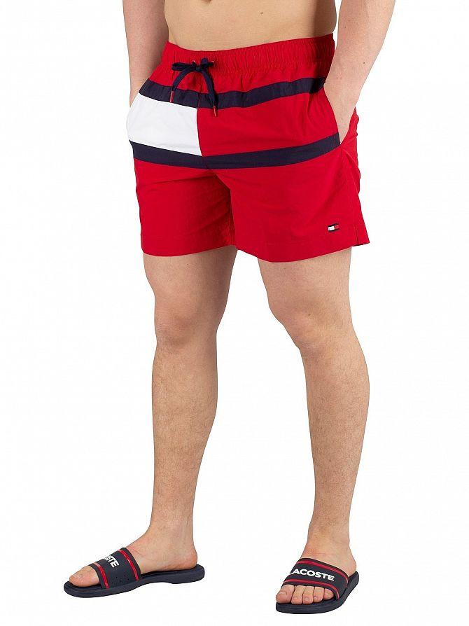 Tommy Hilfiger Tango Red Medium Drawstring Swimshorts