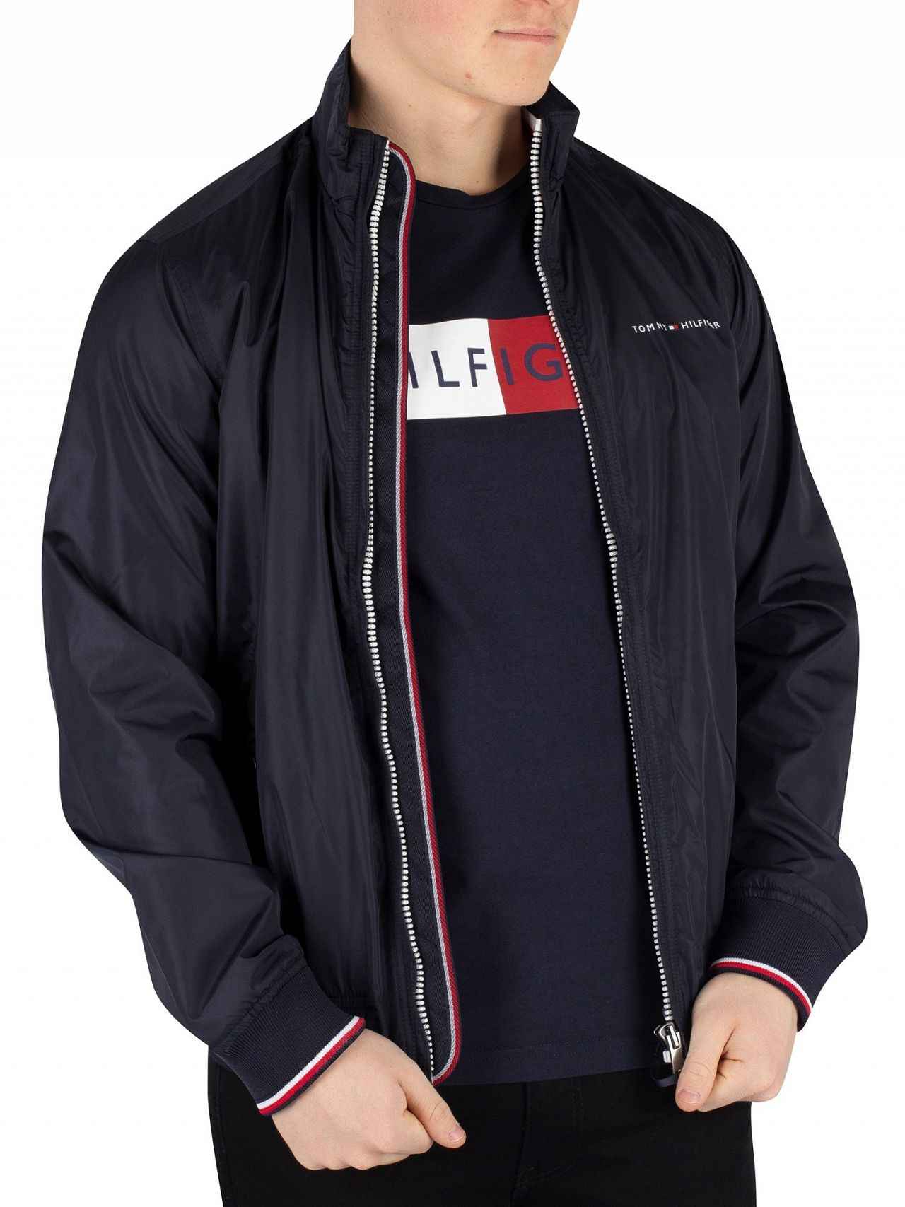 7ff9a5e8a Tommy Hilfiger Sky Captain Nylon Harrington Bomber Jacket