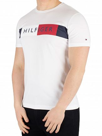 Tommy Hilfiger Bright White Stripe Hilfiger T-Shirt