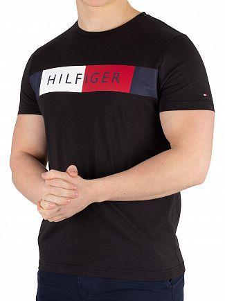 Tommy Hilfiger Jet Black Stripe Hilfiger T-Shirt