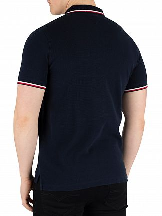 Tommy Hilfiger Sky Captain Textured Tipped Slim Poloshirt