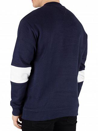 Tommy Jeans Black Iris Navy Chevron Sweatshirt