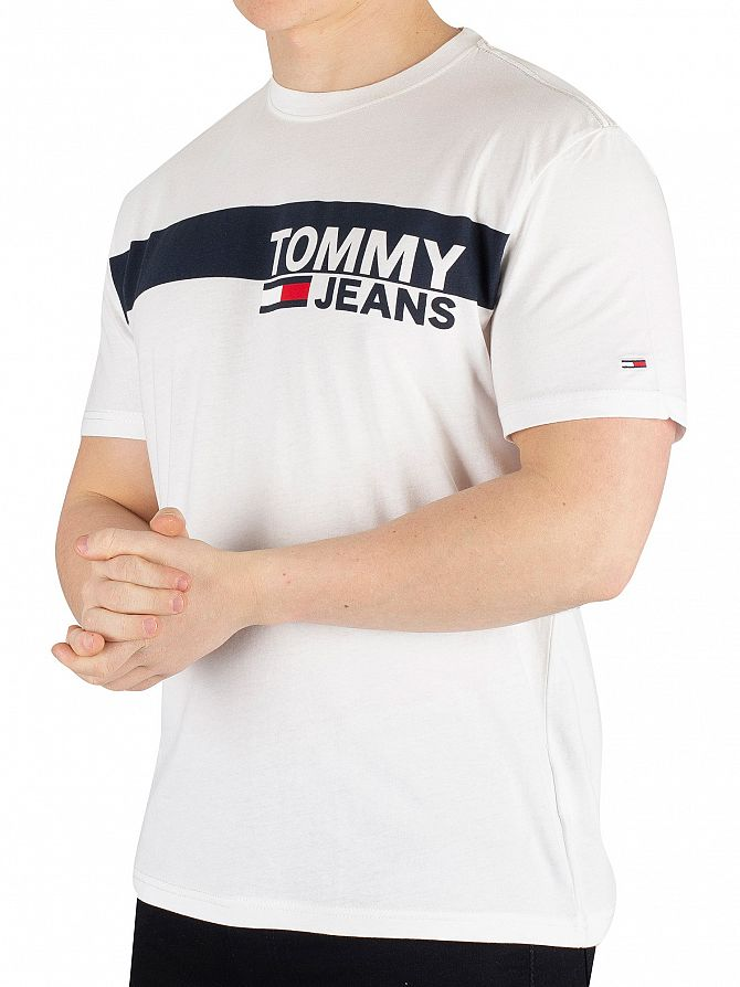 Tommy Jeans Classic White Essential Box Logo T-Shirt