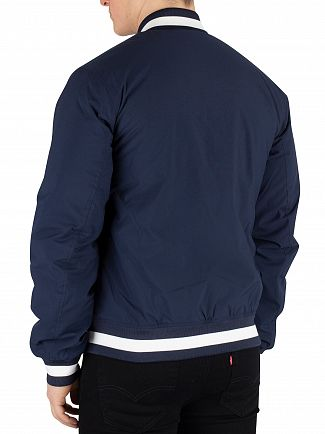 Tommy Jeans Black Iris Navy Ribbed Bomber Jacket