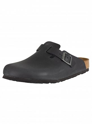 Birkenstock Black Boston BS Leather Sandals