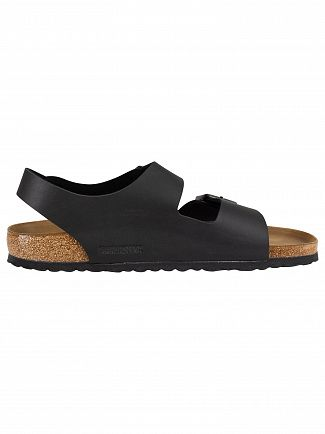 Birkenstock Black Milano BS Leather Sandals