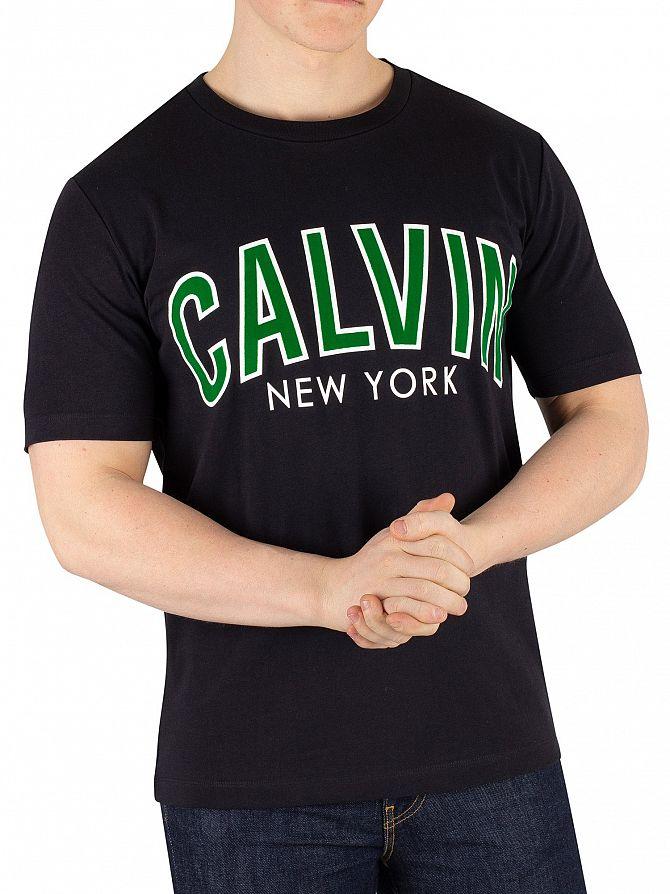 Calvin Klein Jeans Black Curved Varsity T-Shirt