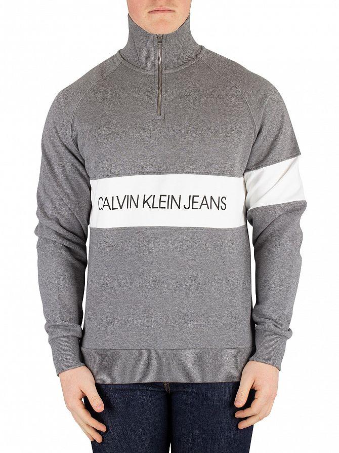 Calvin Klein Jeans Grey Heather Institutional Logo Sweater