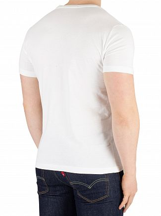 Calvin Klein Jeans Bright White/Racing Red Institutional Logo T-Shirt