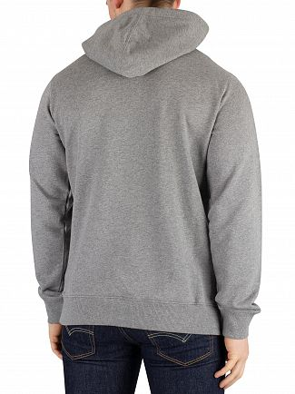 Calvin Klein Jeans Grey Heather/Bright White Monogram Box Logo Pullover Hoodie