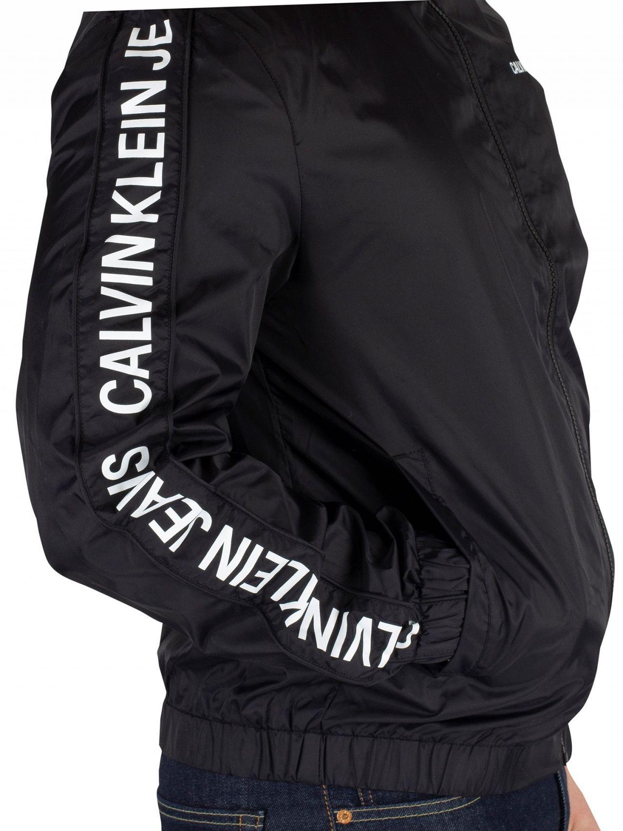 2163880ea00e Calvin Klein Jeans Black Side logo Truck Jacket | Standout