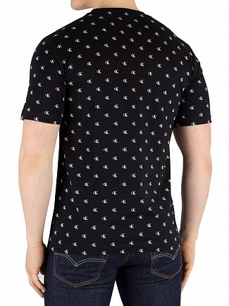 Calvin Klein Jeans Black Small Monogram T-Shirt