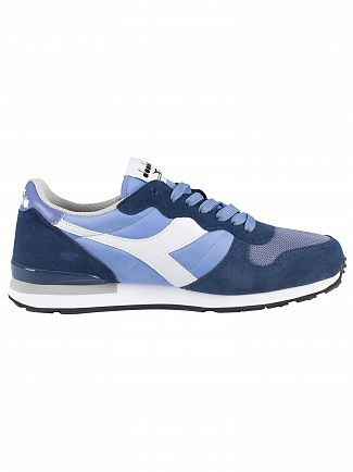 Diadora Allure/Ensign Blue/White Camaro Suede Trainers
