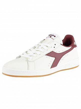 Diadora White/Port/Ash Game L Low Leather Trainers