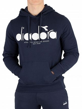 Diadora Blue Denim Graphic Pullover Hoodie