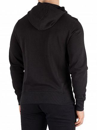 Diadora Black/Optical White Graphic Pullover Hoodie