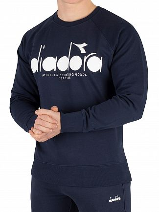 Diadora Blue Denim Graphic Sweatshirt