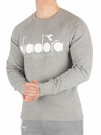 Diadora Light Middle Grey Melange Graphic Sweatshirt