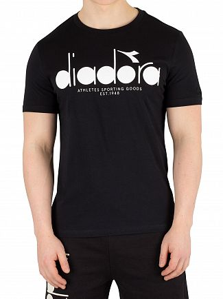 Diadora Black/Optical White Graphic T-Shirt