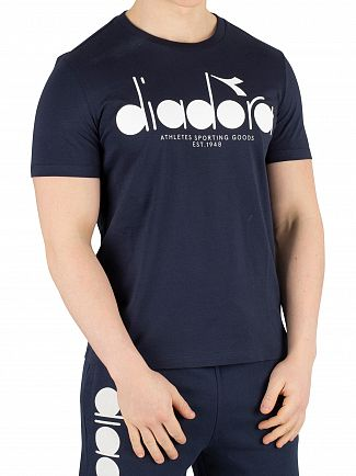 Diadora Blue Denim Graphic T-Shirt