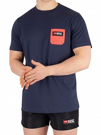 Diesel Navy Beachwear Pocket T-Shirt
