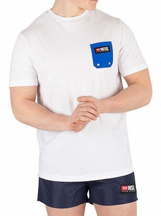 Diesel White Beachwear Pocket T-Shirt