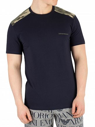 Emporio Armani Navy Blue Crew Neck T-Shirt