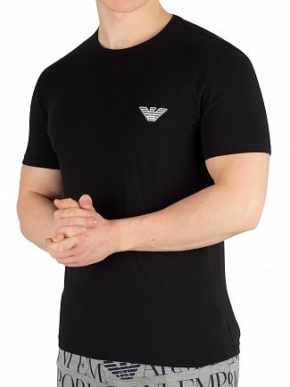 Emporio Armani Black Crew Neck T-Shirt