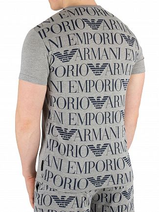 Emporio Armani Grey Melange Crew Neck T-Shirt