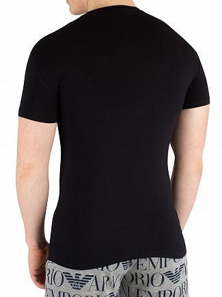 Emporio Armani Black Megalogo T-Shirt
