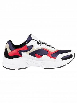 Fila Vintage Navy/Red/White Luminance Trainers