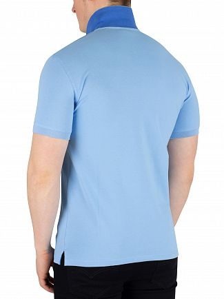 Gant Toy Blue Contrast Collar Pique Rugger Poloshirt