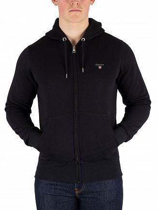 Gant Black Original Zip Hoodie