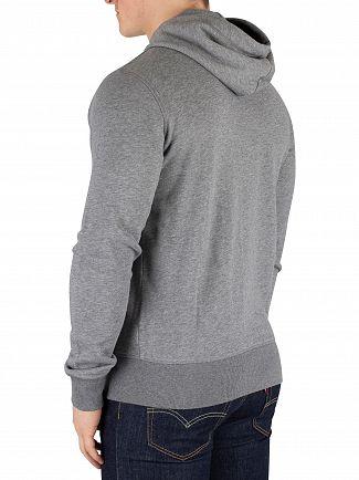 Gant Dark Grey Melange Original Zip Hoodie