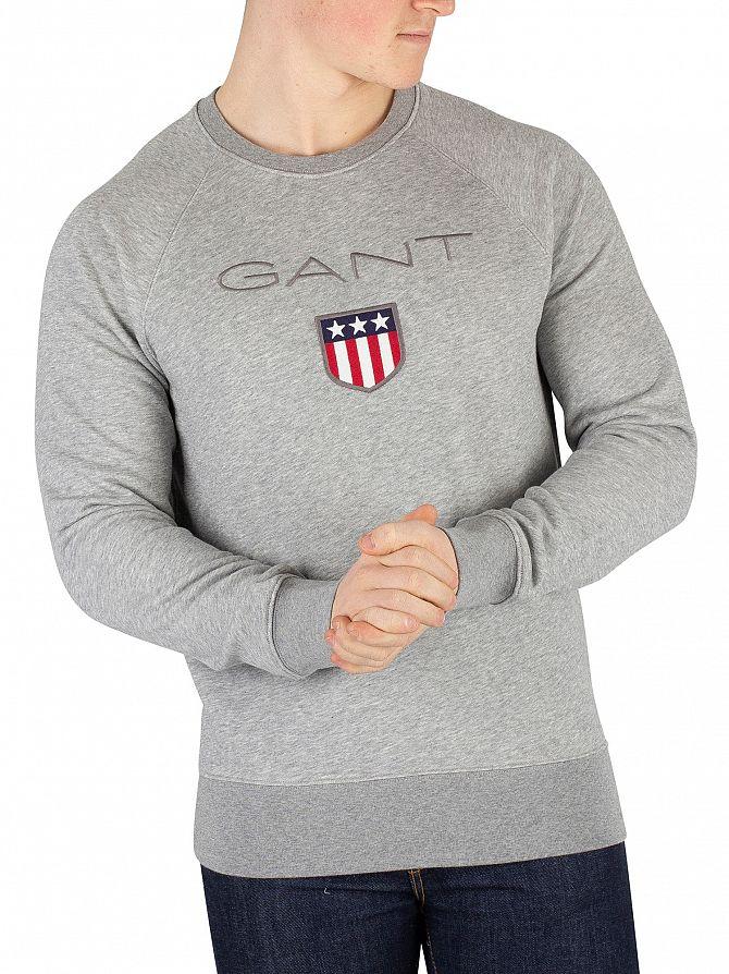 Gant Grey Melange Shield Sweatshirt