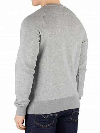 Gant Grey Melange Shield Sweatshirt