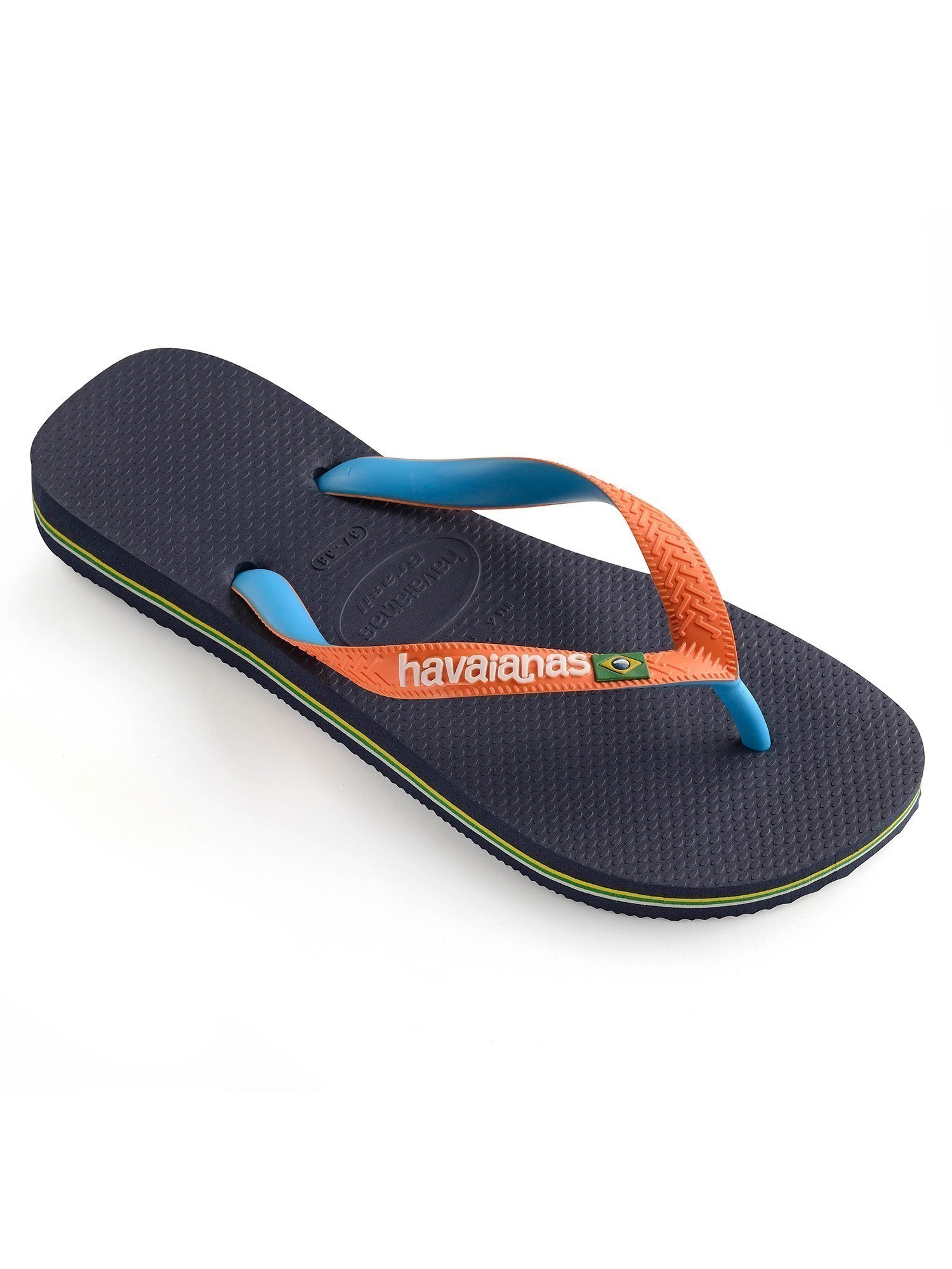 e639e49f2e1cce Havaianas Navy Orange Brasil Mix Flip Flops