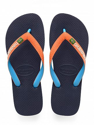 Havaianas Navy/Orange Brasil Mix Flip Flops