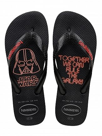 Havaianas Black/Red Star Wars Flip Flops