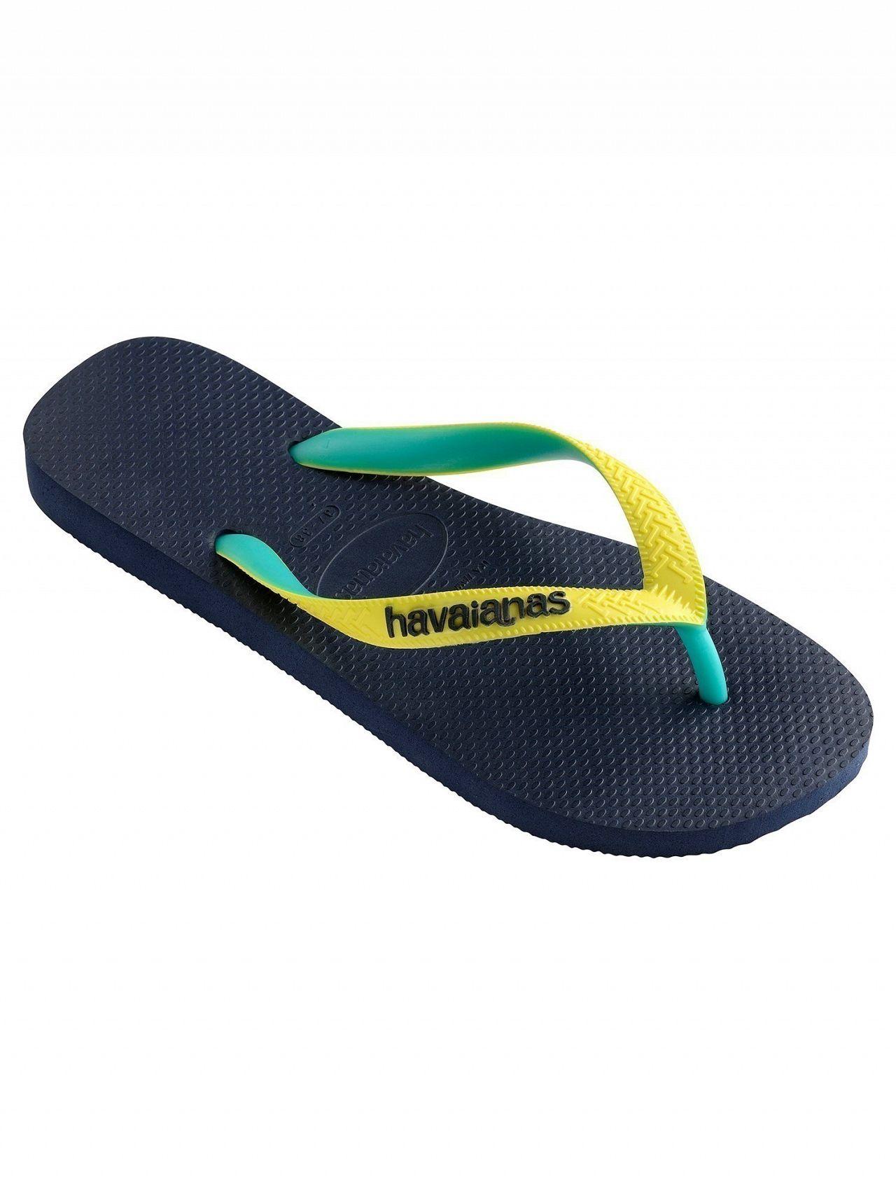 bd72be840 Havaianas Navy Neon Yellow Top Mix Flip Flops