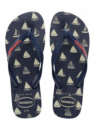 Havaianas Navy/Navy Top Nautical Flip Flops