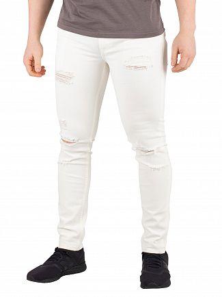 Jack & Jones Blanc de Blanc Liam Original Destroy 627 Skinny Jeans