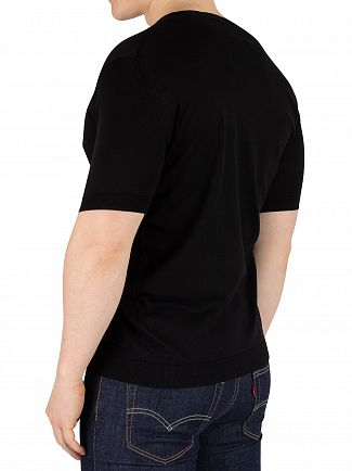 John Smedley Black Belden T-Shirt