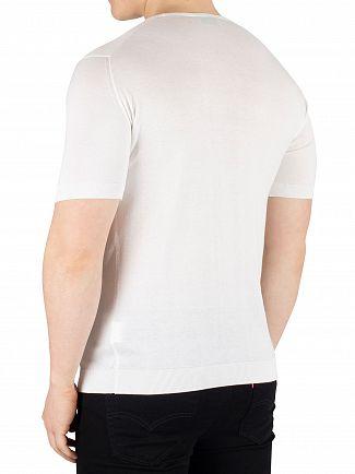 John Smedley White Belden T-Shirt